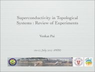 Superconductivity in Topological Systems : Review of Experiments