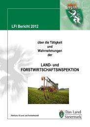 T Ä T I G K E I T S B E R I C H T - Agrar-Server Land Steiermark