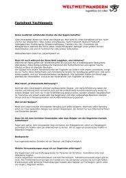 Factsheet Segeln - Weltweitwandern