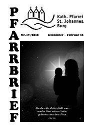 P F A R R B R I E F - Pfarrei St. Johannes in Burg