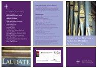 Flyer: Orgeln an der Nordsee – Kultur der Marschen - Nordkirche