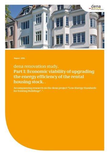 dena renovation study. Part 1: Economic viability of ... - Zukunft Haus