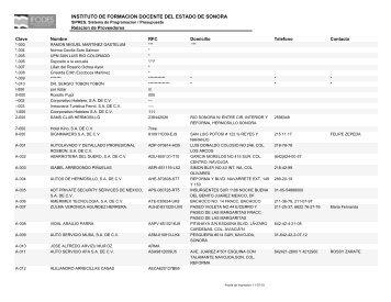 INSTITUTO DE FORMACION DOCENTE DEL ESTADO DE SONORA