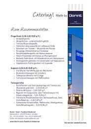 Catering - Dorint · Hotel · Frankfurt Niederrad