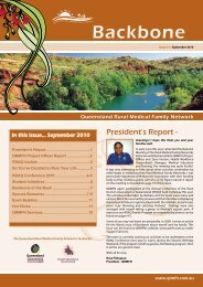 Backbone Newsletter September 2010 - QRMFN
