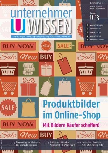 unternehmer WISSEN: Produktbilder im Online ... - Unternehmer.de