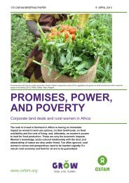Corporate land deals and rural women in Africa - Oxfam International