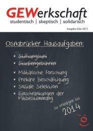 Gesamtausgabe (6 MByte) - Gewerkschaftliche Studierendengruppe ...