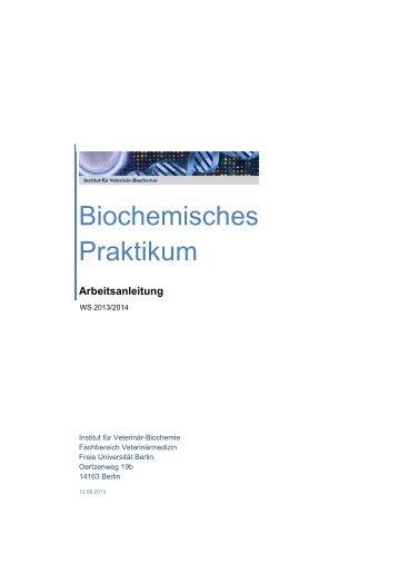 Skriptum/Arbeitsanleitung - Fachbereich Veterinärmedizin an der ...
