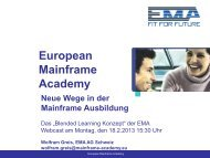 Webcast Folien - European Mainframe Academy