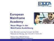 Webcast Folien - European Mainframe Academy