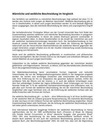 Männliche und weibliche Beschneidung im ... - Pro-Kinderrechte