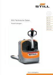 EXU Technische Daten. - Lectura SPECS