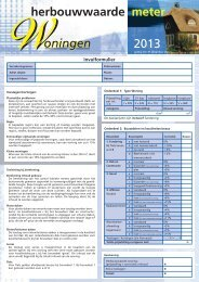 Herbouwwaardemeter 2013 - Verbond van Verzekeraars