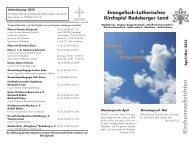 Kirchennachrichten April / Mai - Kirchspiel Radeberger Land