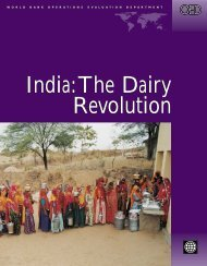 India:The Dairy Revolution India:The Dairy Revolution