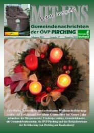 MIT UNS Dezember 2013 - in der Gemeinde Pirching/Traubenberg
