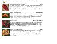 View plant sale list - Moore Farms Botanical Garden