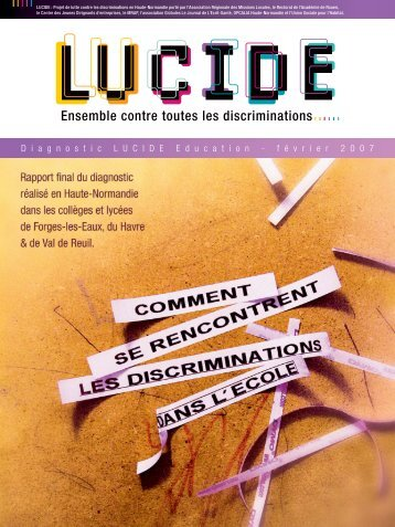 Rapport du diagnostic Lucide Education «Comment se rencontrent ...