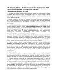 Scham - eine Ressource und ihre Störungen - Evangelische ...