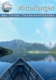 Mitteilungen 01/13 [PDF 2,80 MB] - Tiroler Fischereiverband