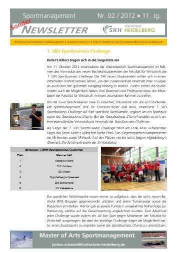 Sondernewsletter 2/2012 zur Sportbusiness Challenge & Charity