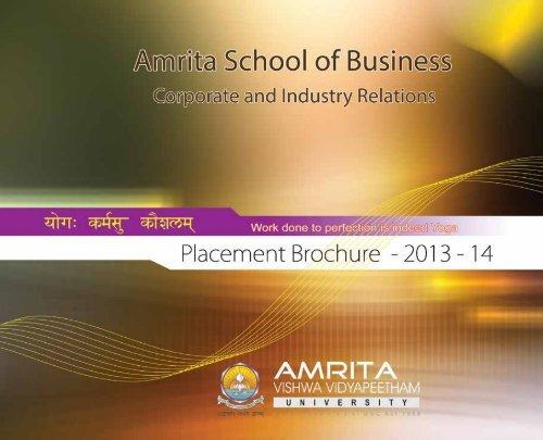 Placement Brochure - Amrita University