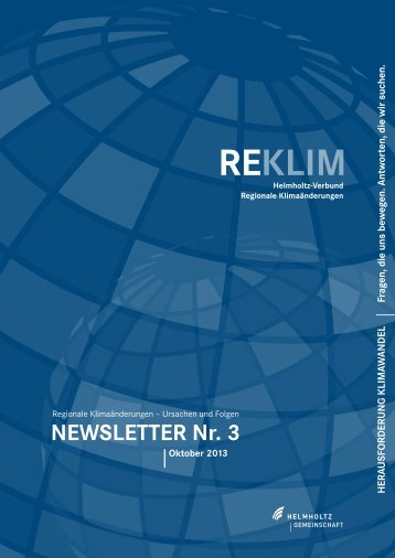 REKLIM Newsletter Nr. 3, 2013