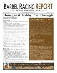 Donegan & Gabby Play Through - Barrel Racing Report