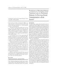 Predictors of Residual Renal Function Loss in Peritoneal Dialysis: Is ...