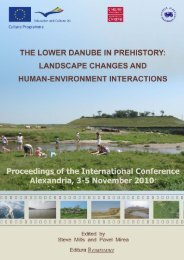 THE LOWER DANUBE IN PREHISTORY: LANDSCAPE CHANGES ...