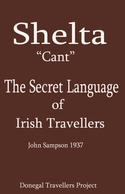the Secret Language of Irish Travellers - Donegal Traveller's Project