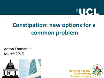 Management of Constipation - Bowel Cancer UK
