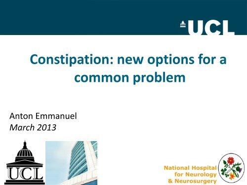 Management of Constipation - Bowel Cancer UK