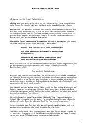 Botschaften an JNSR 2005 - Gottes Warnung