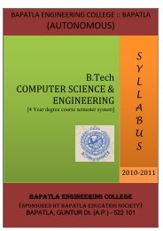 AUTONOMOUS - Bapatla Engineering College