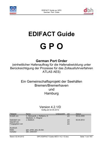 GPO-Hafenauftrag - DAKOSY Datenkommunikationssystem AG