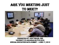 Are You Just Meeting to Meet? - ADE Special Education