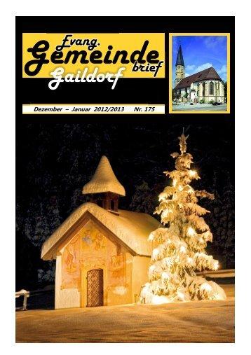 Nr. 175: Dezember 2012 - Januar 2013 - Evangelischer ...