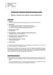 Protokoll der 4. Einwohner-Gemeindeversammlung ... - Frenkendorf