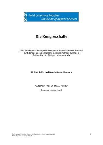 Die Kongresshalle - Bildarchiv der Philipp Holzmann AG ...