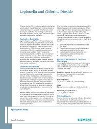 Legionella and Chlorine Dioxide - Siemens