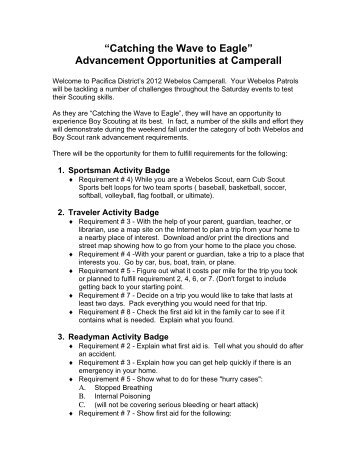 Advancement Opportunities at Camperall - Pacifica District