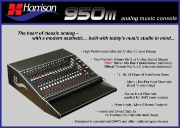 Click here to download the Product Brochure - Harrison Consoles