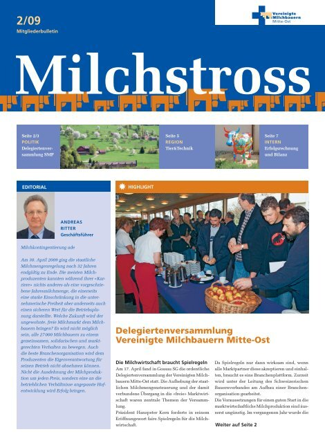 Milchstross 2/09 - Vereinigte Milchbauern Mitte-Ost