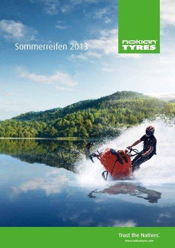 Brochüre: Sommerreifen 2013