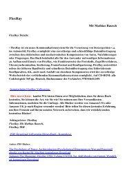 FlexRaypdf ebooks von Mathias Rausch kostenlosen Download