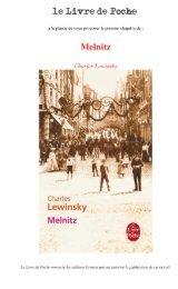 Melnitz - Le Livre de Poche