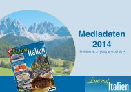 Laden Sie jetzt hier unsere Mediadaten runter - Lust auf Italien