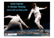 30th FIMS Congress, Acute Injuries in Olympic Fencing ...